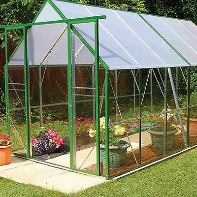 Ultimate Safety PVC Greenhouse Green 3.5m (12x6ft) Steel Frame