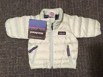 new with tags Patagonia baby newborn down sweater jacket mint green $99 size 0
