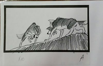 Balto Animated Film - Storyboard - Balto/Steele -USSBA.009.197