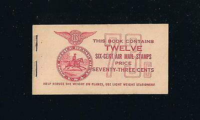 US BKC3 (1943) Twin-Motored Transport Plane Airmail Stamp Booklet Issue [1]