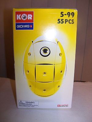 KOR Geomag Yellow Egg Creative Magnet Playset 55 pieces ages 5-99 Swiss Made