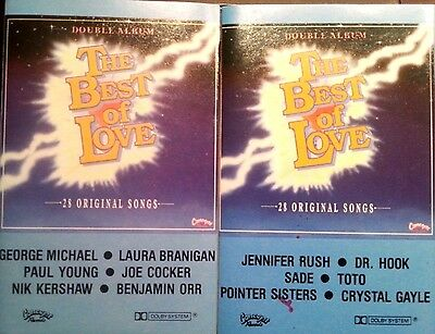 Various Artists 2 Cassette Tapes The Best Of Love 28 Tracks