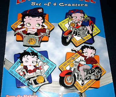 "Funky Chunky Coasters ""Legends Of The Table"" Motorcycle Betty Boop"