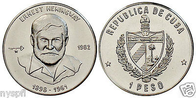 Ernest Hemingway on Peso Coin -  Commemorative issue