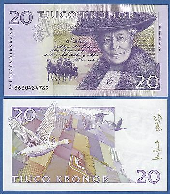 Sweden 20 Kronor 2008 UNC & Crisp Bank Note Geese, & Horse  With Free Shipping!
