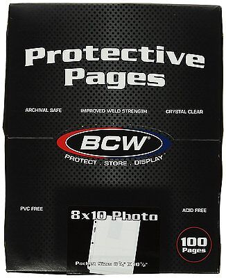BCW Supplies Pro 8 X10 Photo Page 100 Count Box