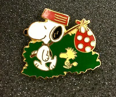 Vintage Aviva Peanuts Snoopy Come Home With Woodstock Pin Rare!