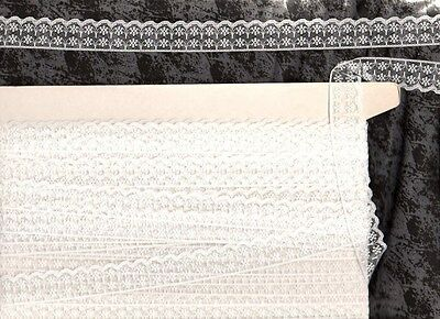 20 metres 20mm wide  WHITE EDGING LACE, great for scrapbooking, crafts etc