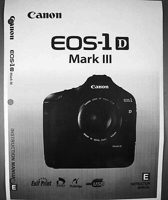canon eos 1d mark iii digital camera user instruction guide manual rh picclick com User Manual Template User Manual Template