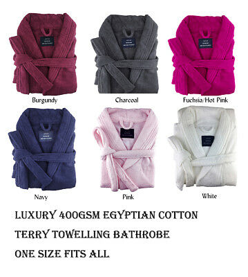 Personalised Embroidered Egyptian Cotton Terry Towelling Bathrobe / Bath Robe