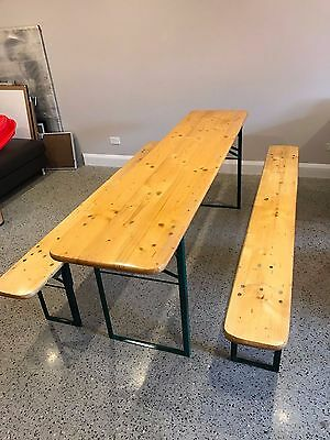 Genuine Bavarian Beer Garden dining Table/bench set - Imported from Germany