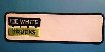White Trucks Big Rig 18 Wheeler Jacket Employee Coverall Patch Crest
