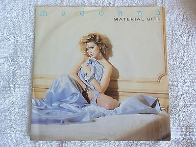 """Madonna - """"material Girl""""  Rare Picture Sleeve 7""""  Single 45 Rpm Vinyl Record"""