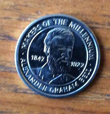 Makers of the Millennium, ALEXANDER GRAHAM BELL , commemorative coin 2000,