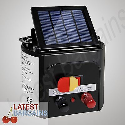 5km Solar Power Electric Fence Energiser Charger Farm