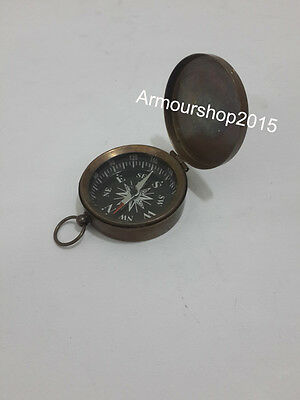 Vintage Maritime  Style Antique Brass Compass Nautical  Collectible Gift Item