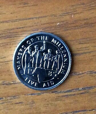 Makers of the Millennium - LIVE AID, commemorative coin 2000 Fund Raising Song.