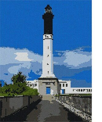 Red And White Lighthouse Needlepoint Kit or Canvas Nautical//Ocean