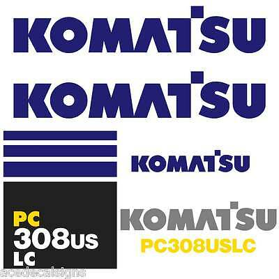 PC308USLC Decals PC308US Stickers Komatsu Decals Komatsu Stickers- New Decal Kit