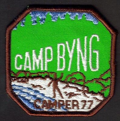 """Boy Scouts Canada Camp Byng  B.c. 1977 Badge 2.75"""" Embroidered Patch"""