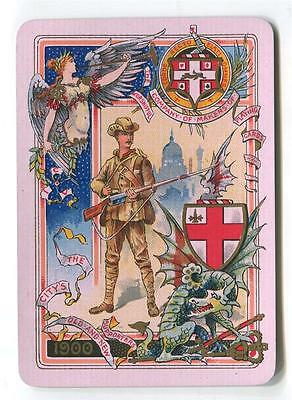 VINTAGE WORSHIPFUL PLAYING CARDS 1900 SINGLE Wide