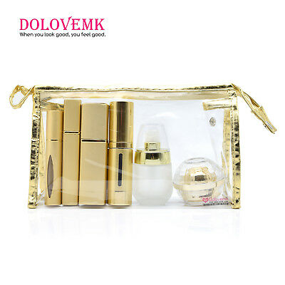 Luxury ALU Travel Refillable Perfume Bottles Set Vacuum Spray Atomizer Roller-on