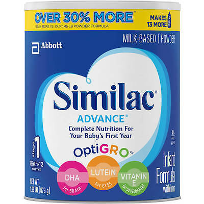 Similac Advance Infant Formula with Iron Powder, Stage 1, 1.93lb, ( 1 can )