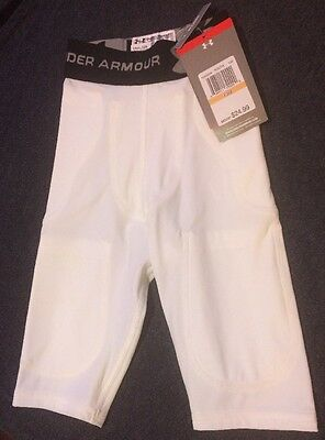 Under Armour white pocket Football pants youth  SMALL Compression Game Pants YSM