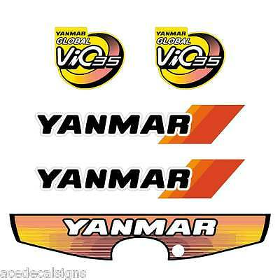 Yanmar VIO35-2 Decals Stickers Kit Set Mini Excavator