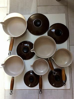 LOT DE 5 CASSEROLES LE CREUSET EN TBE avec 5 COUVERCLES , INDUCTION OK !!!!!