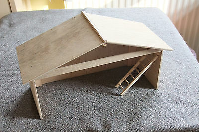 Christmas nativity stable or shelter for baby Jesus at Xmas time hand crafted