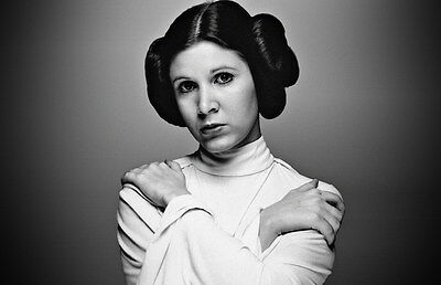 """MX18113 Carrie Fisher - American Actress Princess Leia Star 37""""x24"""" Poster_18113"""
