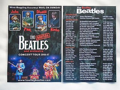 BEATLES/The Bootleg Beatles Live in Concert 2016/17 UK Tour Promo flyers x 2