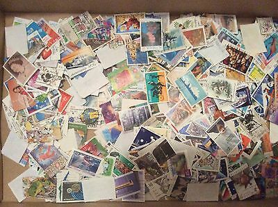 Bulk Australian postage stamps 180g on and off paper
