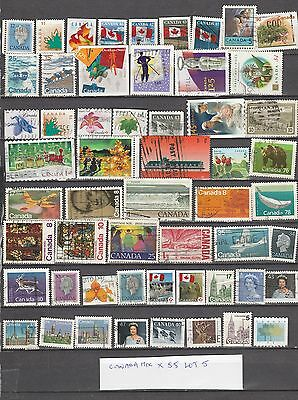 CANADA MIXTURE x55 ALL DIFFERENT, USED LOT 5