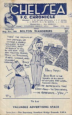 Chelsea v Bolton Wanderers 1946/7 - 1st game after the War!