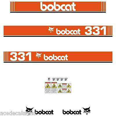 331 DECALS 331 Early Type Stickers Bobcat X331 Decal STICKER Kit Mini Excavator