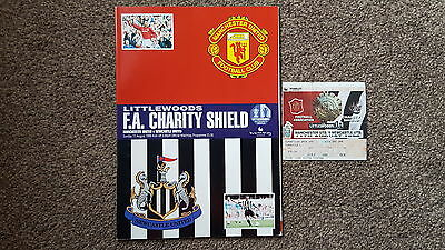 Manchester United V Newcastle United 1996 Charity Shield Programme & Ticket