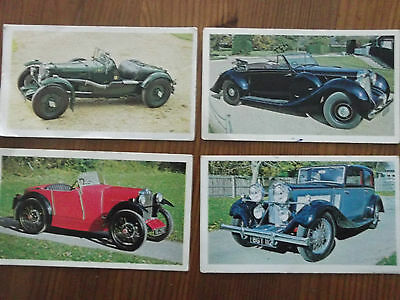 4 X Doncella Golden Age Of Motoring By John Player Cigarettes