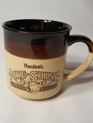 1989 Hardees Coffee cup mug Vintage Resteraunt Advertisement