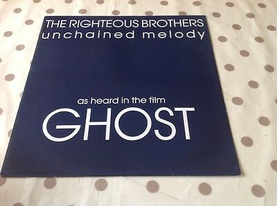 """The Righteous Brothers Unchained Melody 12"""" vinyl single"""