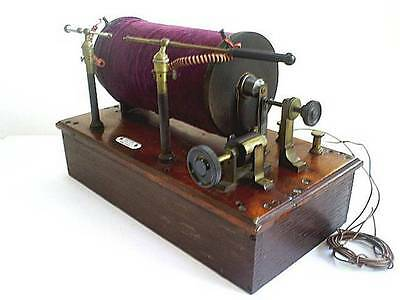 C19TH RARE ANTIQUE RUHMKORFF SPARK/INDUCTION COIL/BLAKEY EMMOTT & Co HALIFAX