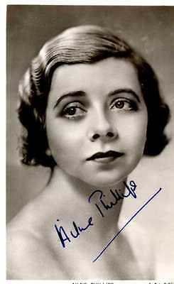 Signed postcard size photograph of the Vic-Wells dancer Ailne Phillips.