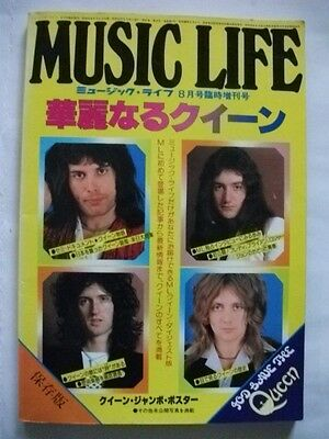QUEEN 1977 Book Japan w/ Pin up Freddie Mercury