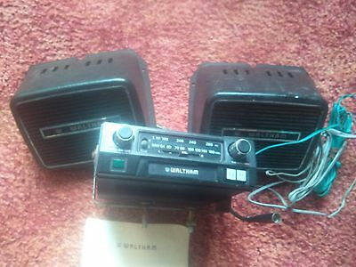 vintage  car radio and cassette player