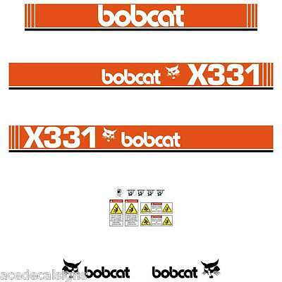 X331 DECALS X331 Stickers Bobcat X331 Decal STICKER Kit Mini Excavator