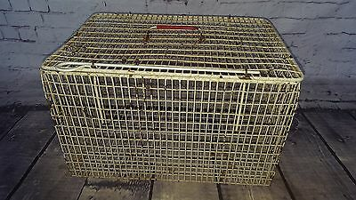 Old Vintage Pet Rabbit Cat Ferret Bird Puppy Animal Carry  Cage Transporter