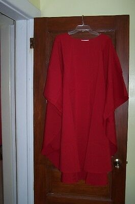 New Red Chasuble robe vestment minister priest clergy church interfaith