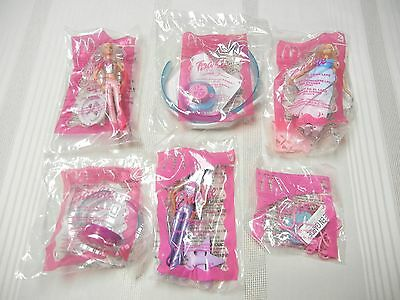 McDONALD'S TOYS - SET OF 6 - BARBIES - 2003 - NEW IN PKG.