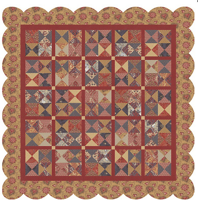La Vie Boheme Quilt Kit with Rue Indienne by French General for Moda
